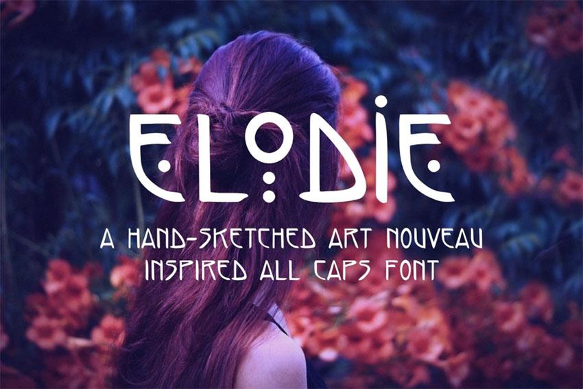 Elodie - Hand Sketched Art Nouveau Font