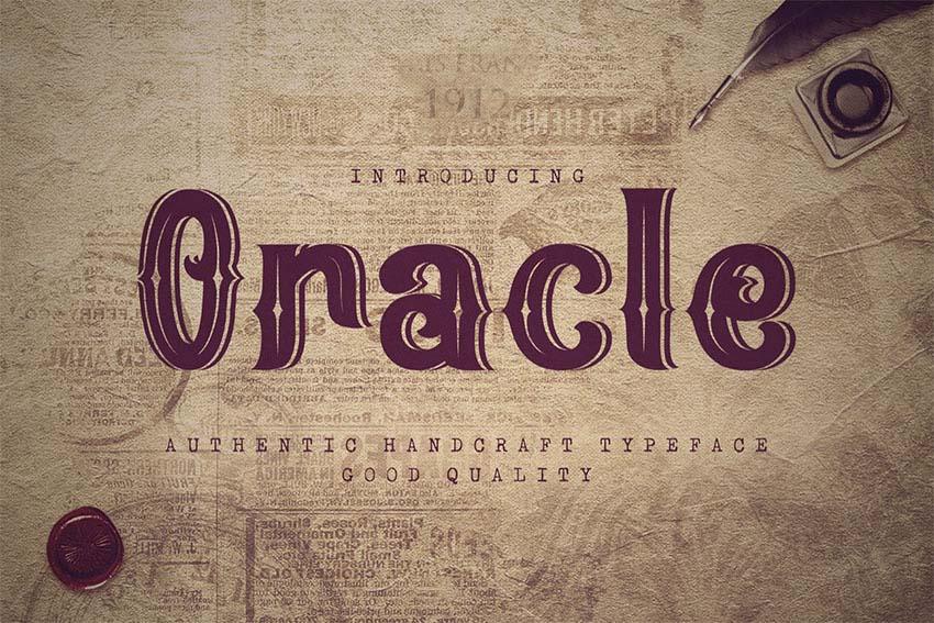 Oracle - Art Nouveau Type Fonts