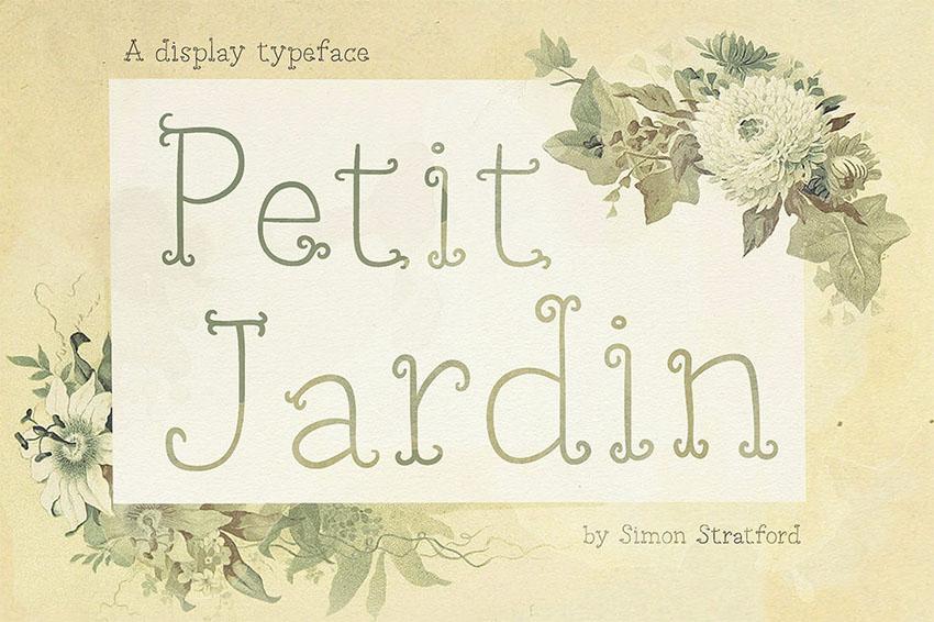 Petit Jardin Art Nouveau Font