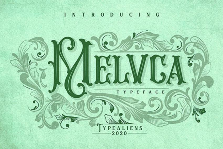 Melvca - Art Nouveau Typeface