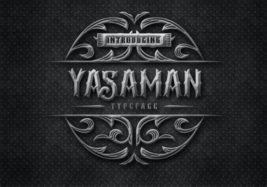 Yasaman Art Nouveau Typeface