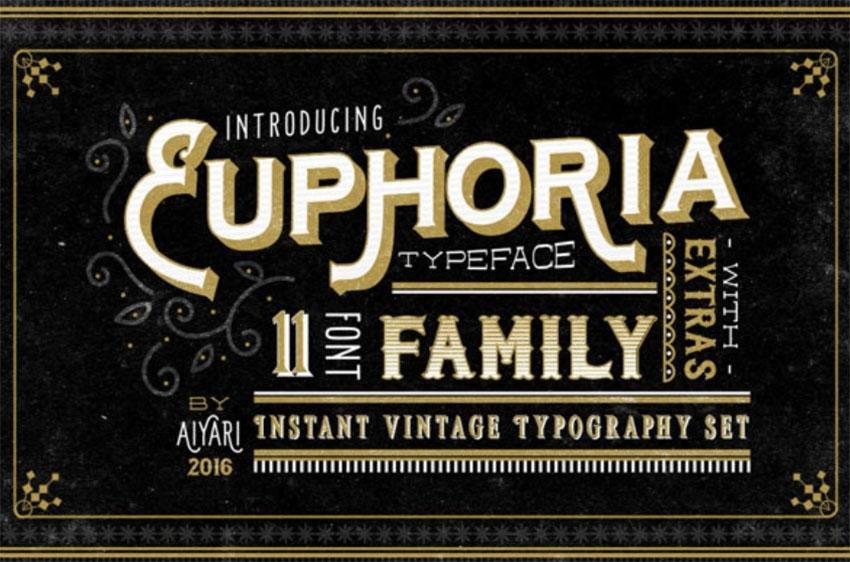 Euphoria Art Nouveau Font