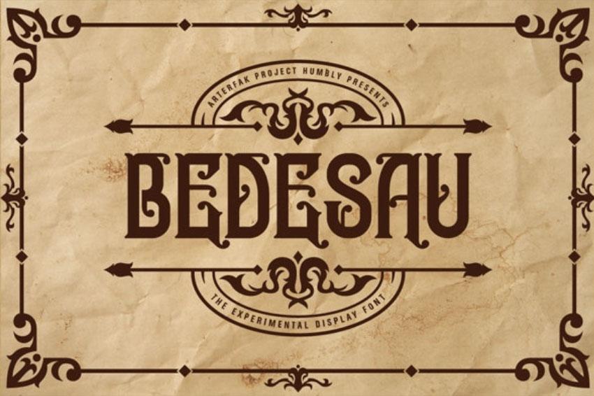 Bedesau   Art Nouveau Style Letters