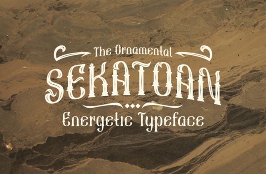 Sekatoan Art Nouveau Type Fonts
