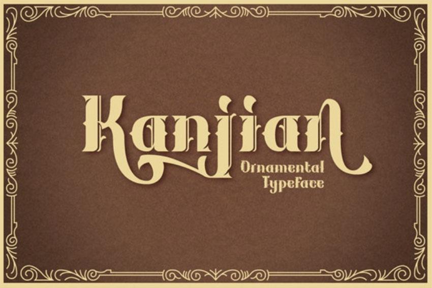Kanjian Art Nouveau Lettering