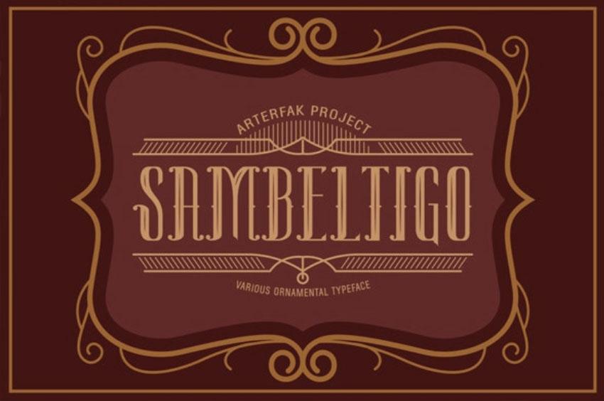 Sambeltigo Art Nouveau Font
