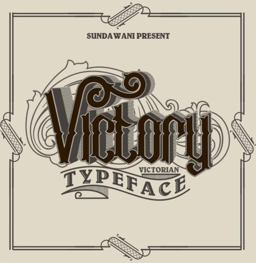 Victory Art Nouveau Typeface