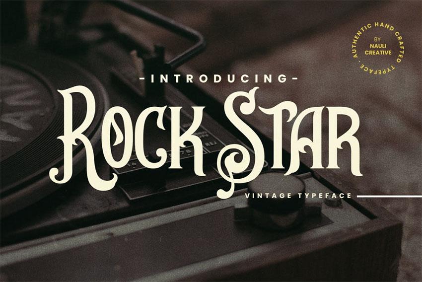 Rockstar- Vintage Decorative Typeface