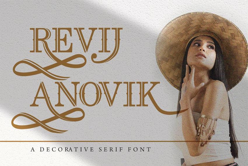Revij Anovik - Decorative Serif Font