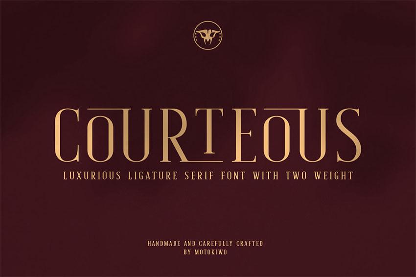 Courteous - Ligature Serif Font