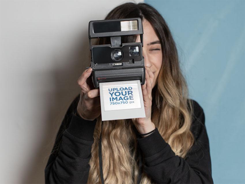 Polaroid Film Template