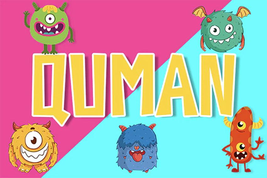 Quman Comic Typeface