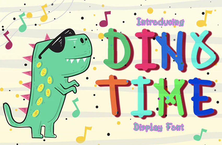 Dino Time Vintage Comic Book Font