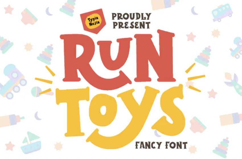 Run Toys Cartoon Letters Font