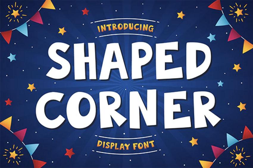 Shaped Corner Font Used for Comics