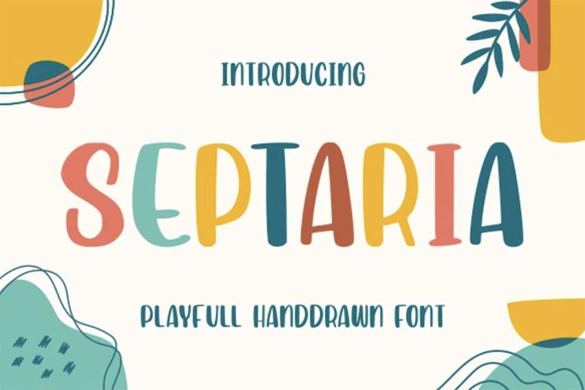 Septaria Cartoon Font