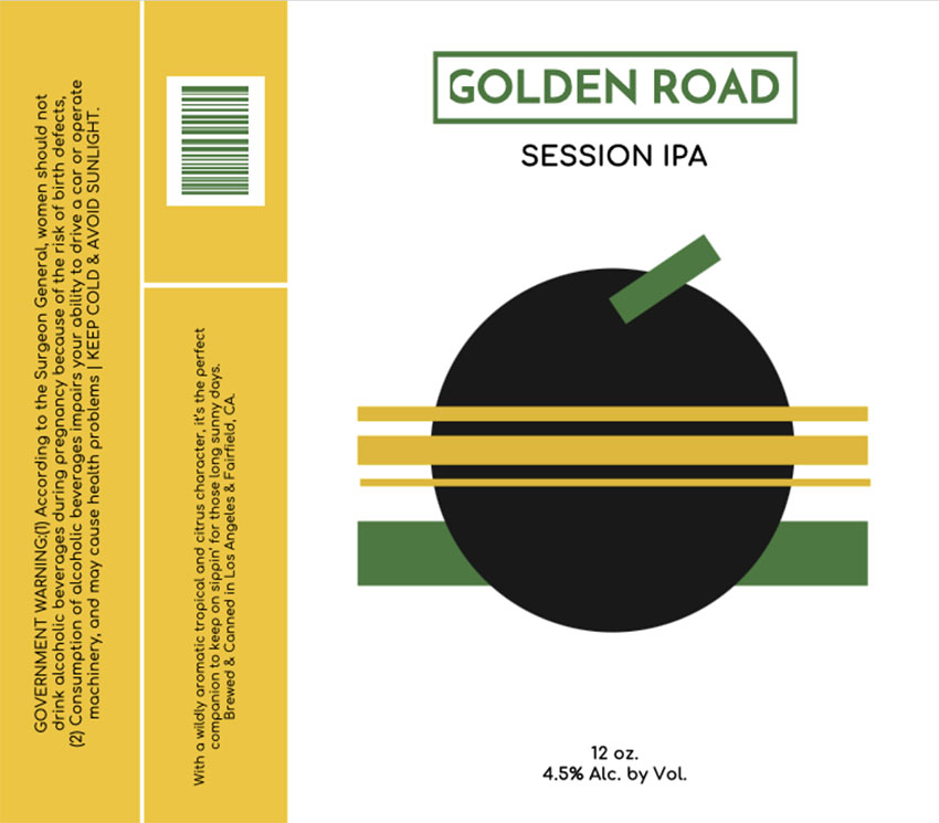 Session IPA Beer Label Template