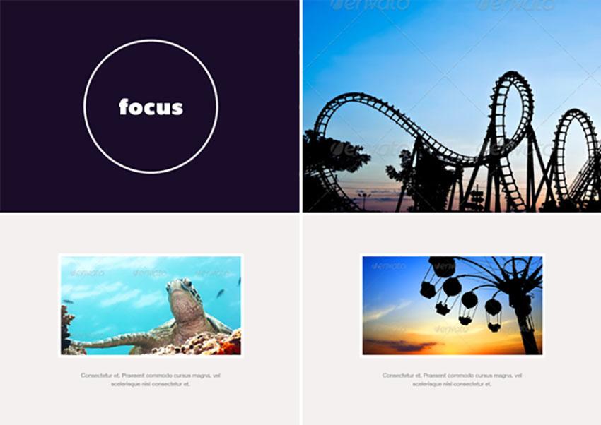 Focus - Photo Album or Folio Template