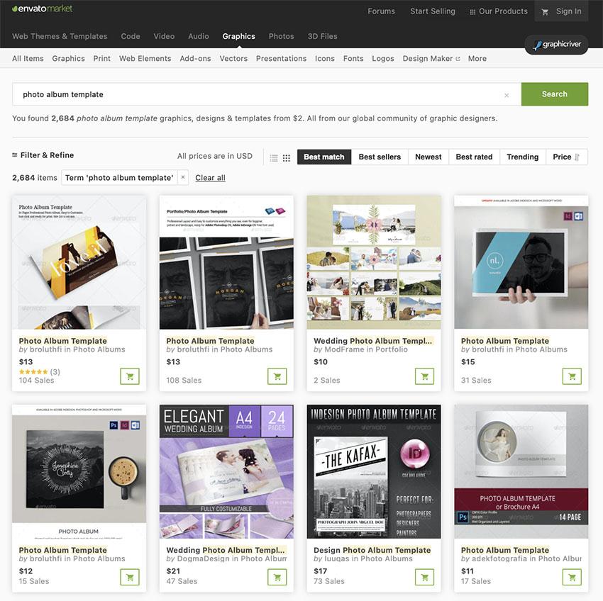 More Premium Photo Album Templates From GraphicRiver