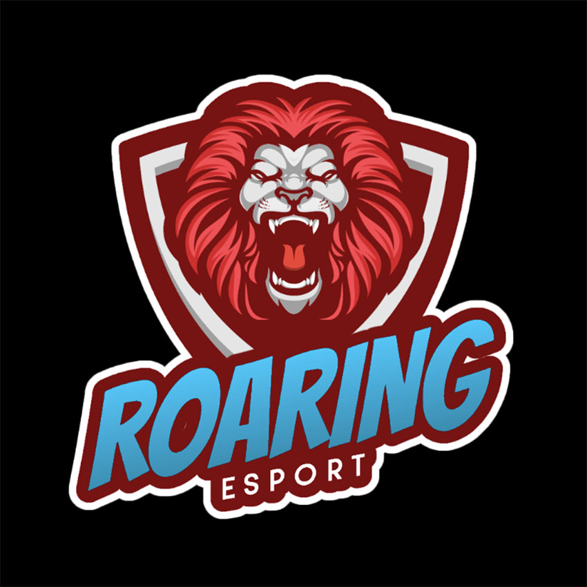Logo Maker Featuring a Lion Roaring