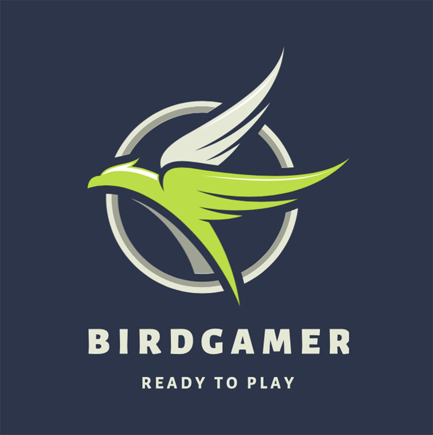 Abstract Logo Generator for Gamers Featuring a Bird Clipart