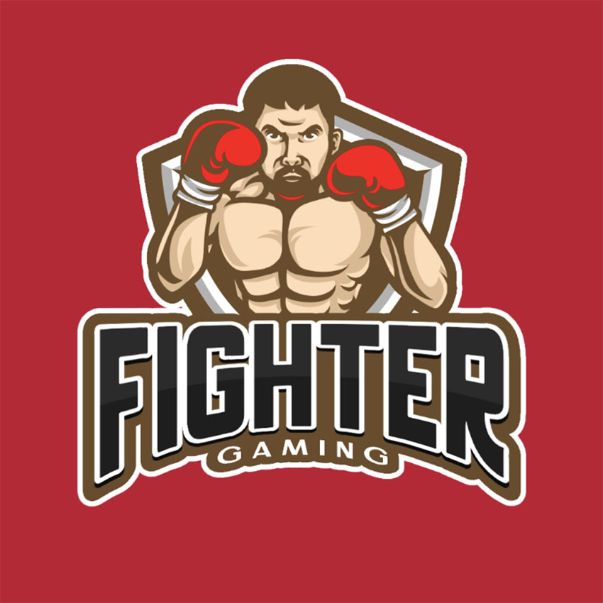 Logo Generator Featuring a Boxing Player in Defensive Stance