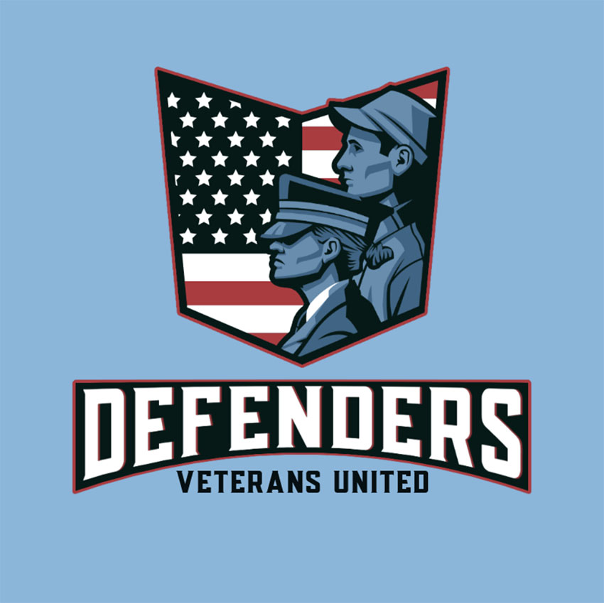 Gaming Logo Template with a United Veterans Graphic