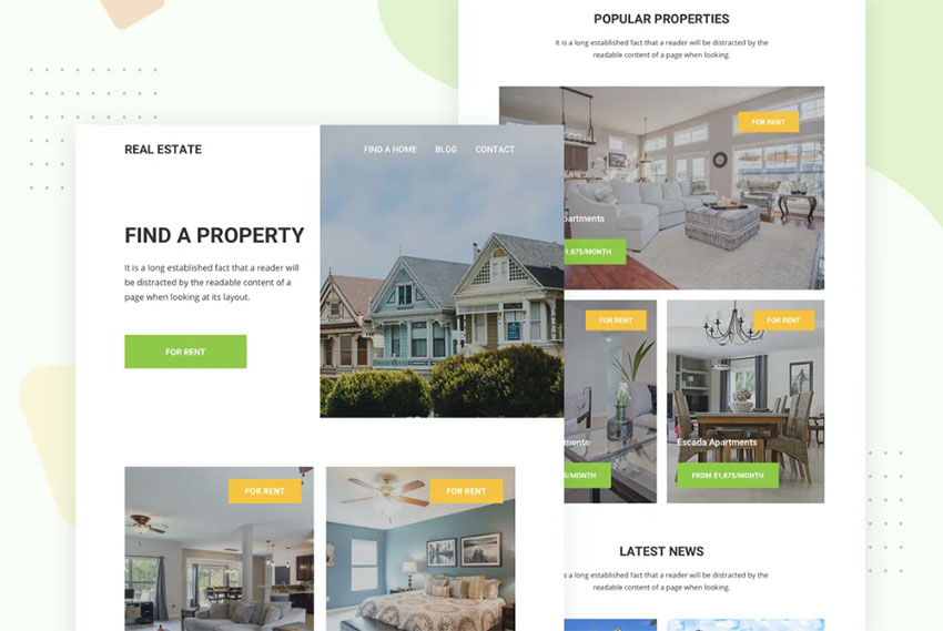 Newsletter Real Estate Templates