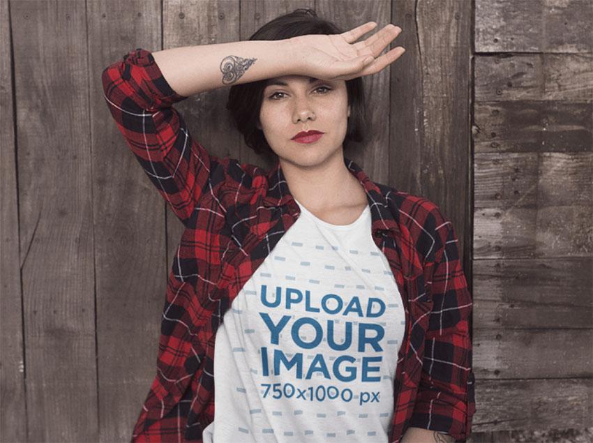 White T-Shirt Mockup Free
