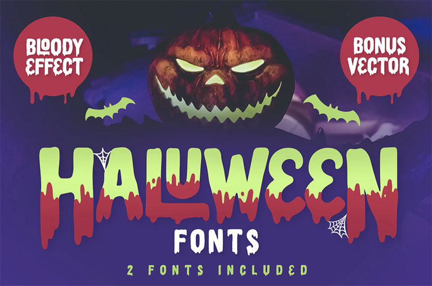 Scary Letter Font