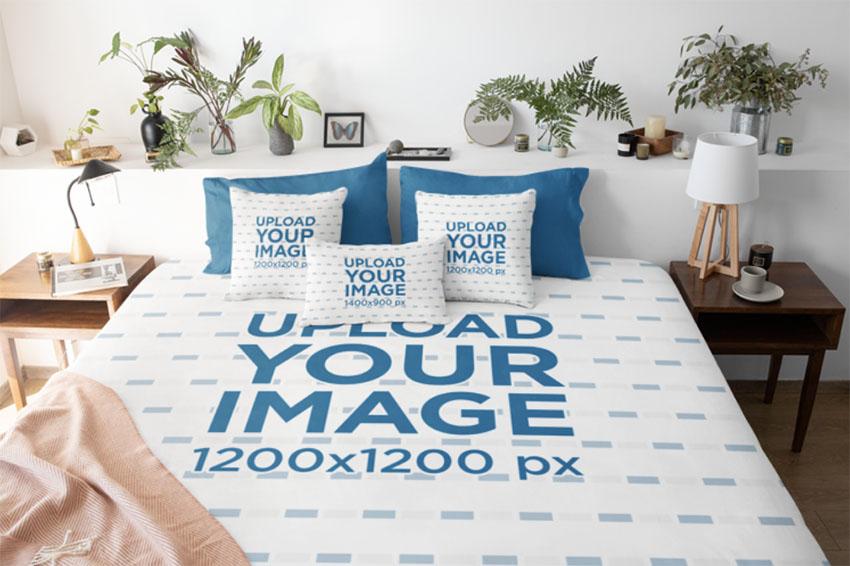 Bed Linen Mockup