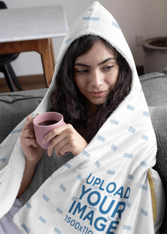 Sherpa Blanket Mockup