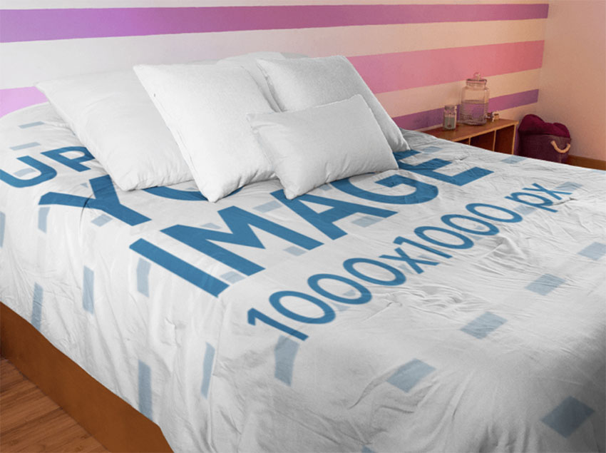 Bed Cover Mockup