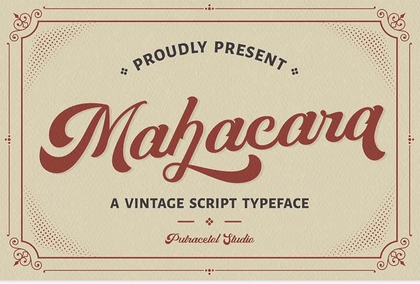 Mahacara - Retro Script Font