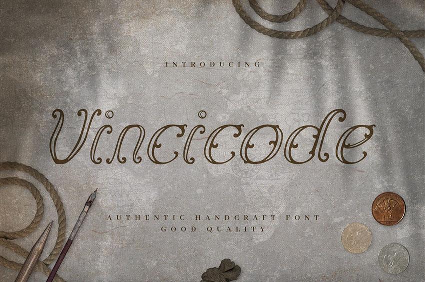 Vincicode - Elegant Vintage Script Font