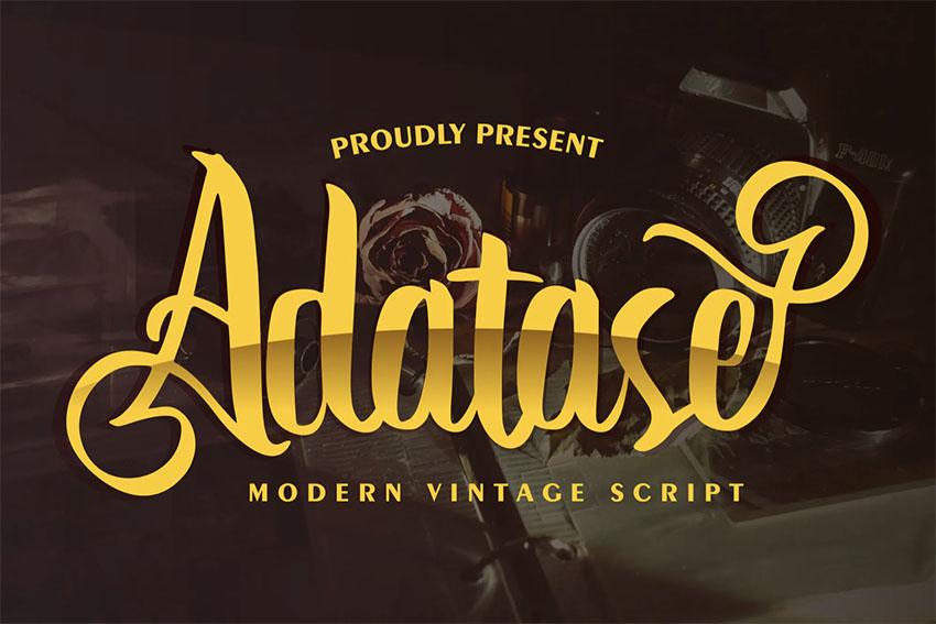 Adatase | Vintage Cursive Font