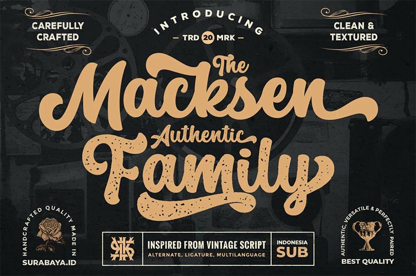 The Macksen - Retro Calligraphy Font