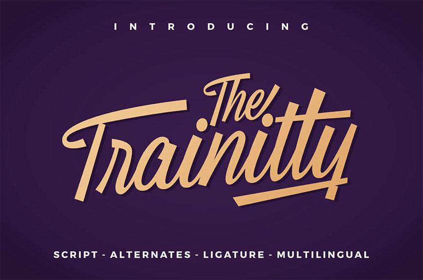 Trainitty Retro Script Font