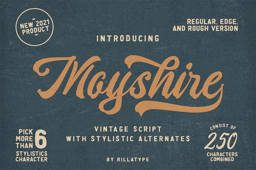 Moyshire - Vintage Script Lettering