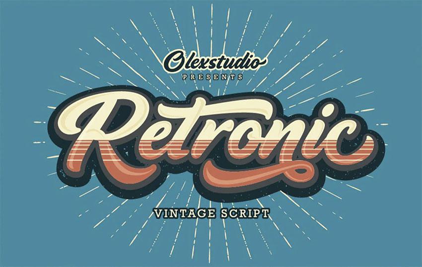 RETRONIC -  70s Script Font