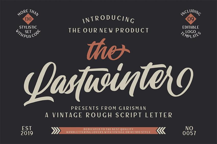 Lastwinter | Font for Vintage Logo