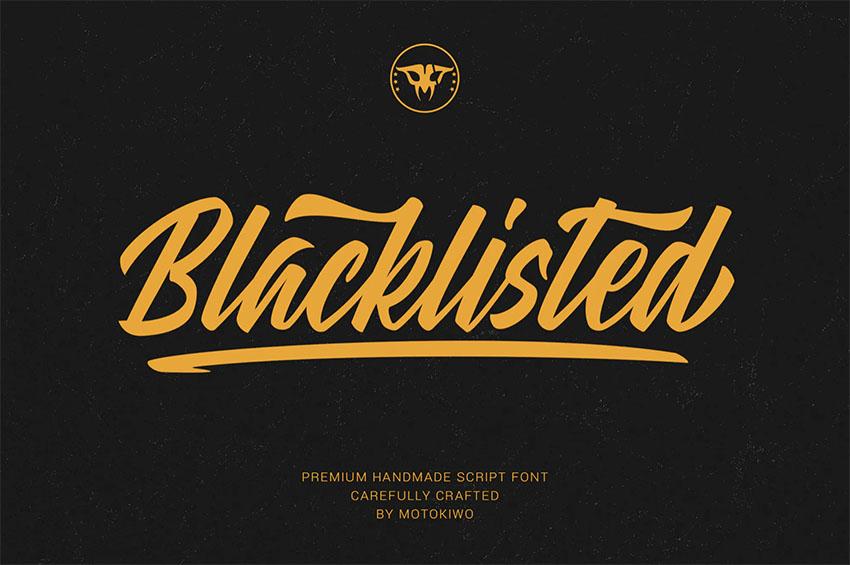 Blacklisted - Font for Vintage Logo