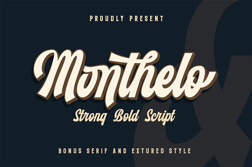 Monthelo - Retro Cursive Font