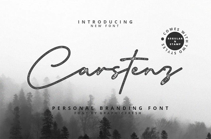 Carstenz Vintage Script Lettering