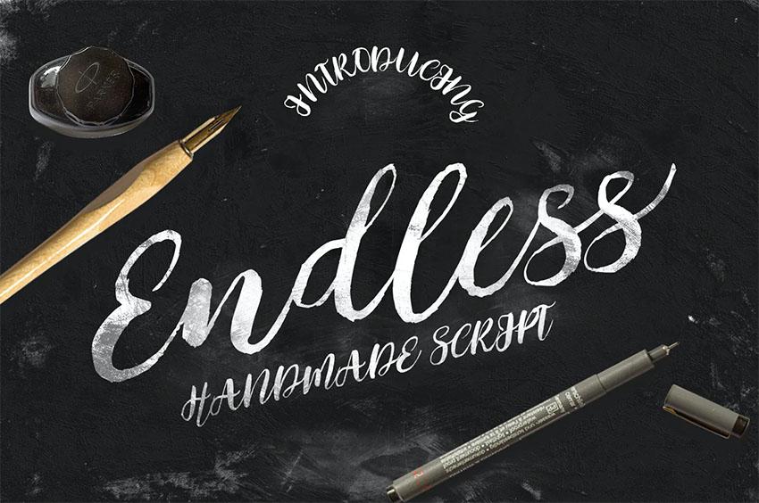 Endless Vintage Brush Script Font