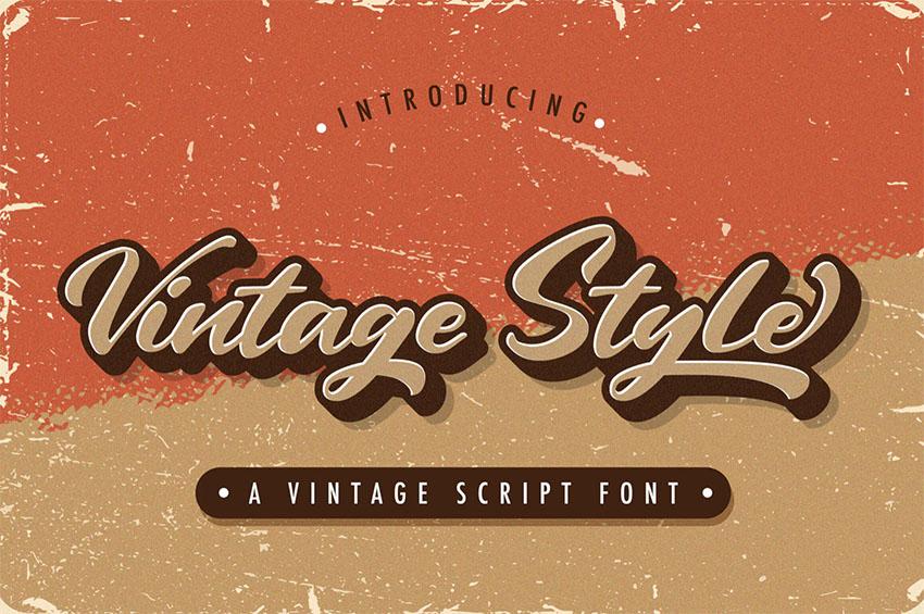 Vintage Style - 70s Cursive Font