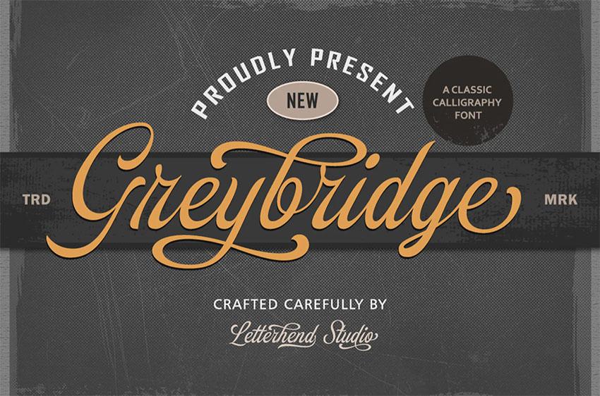 Greybridge - Old School Script Font