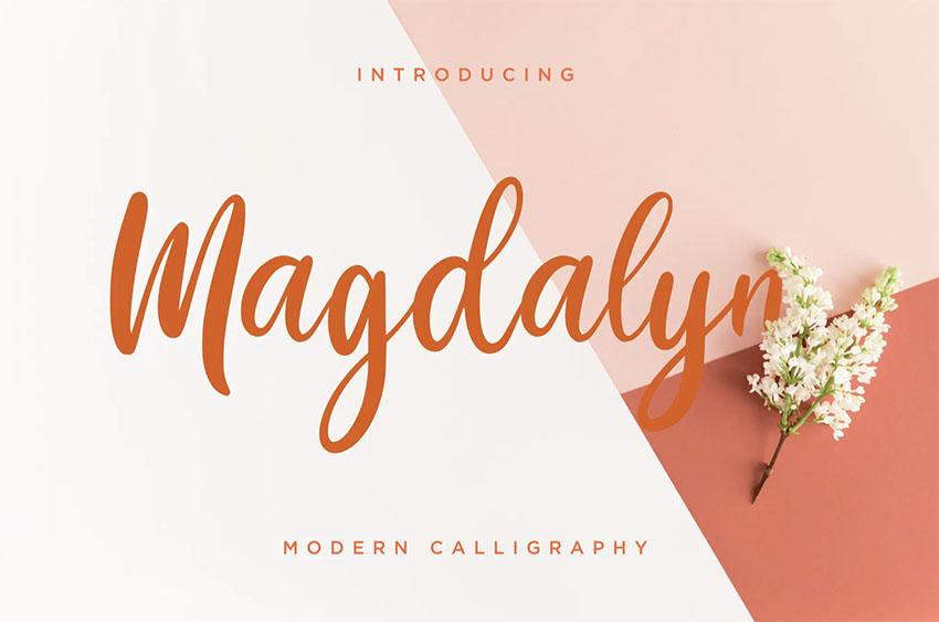 Magdalyn Retro Cursive Font