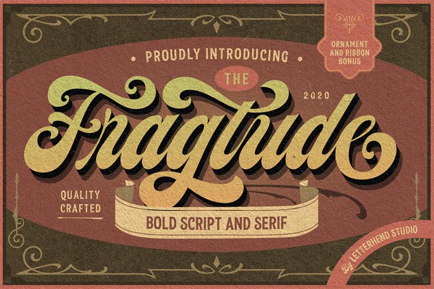 Fragtude - Vintage Cursive Font