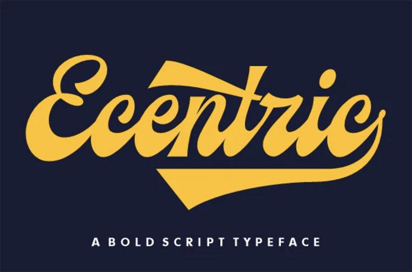Ecentric | 70s Cursive Font